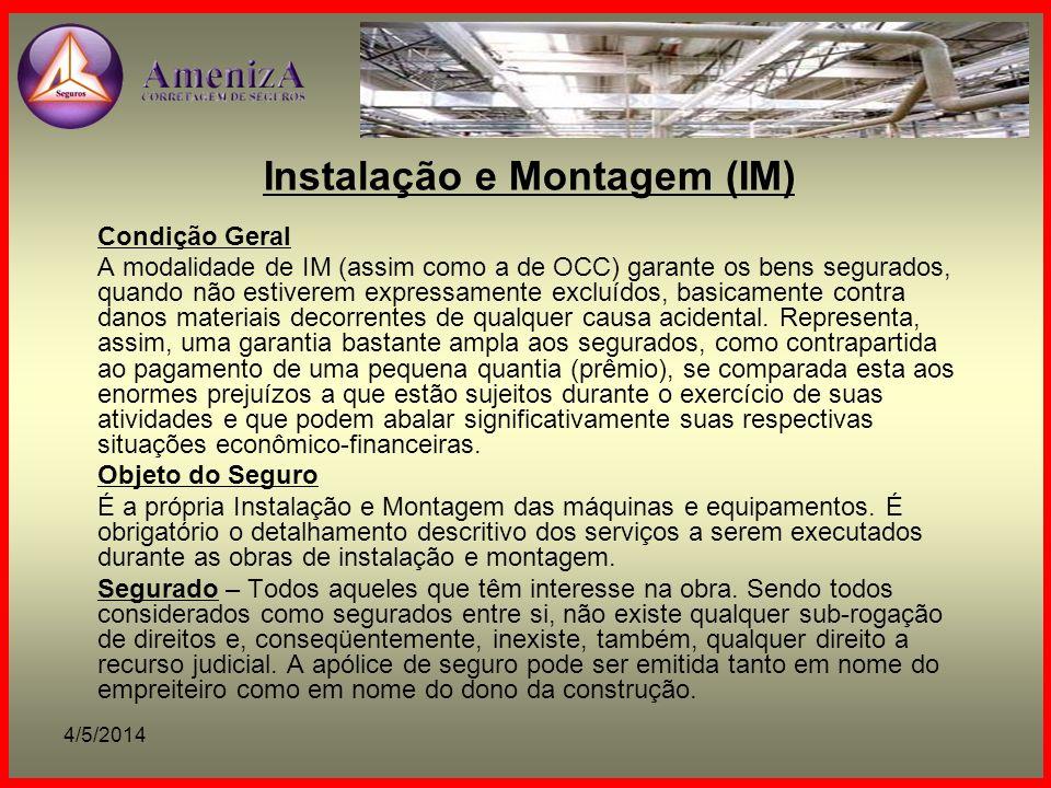 Instalação e Montagem (IM)