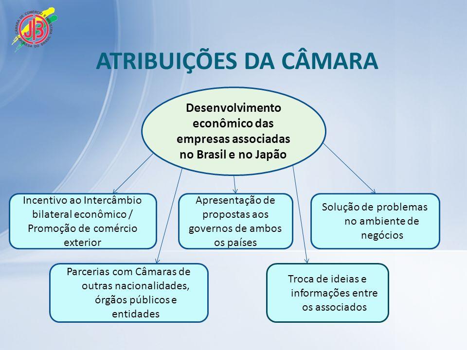 Desenvolvimento econômico das empresas associadas no Brasil e no Japão
