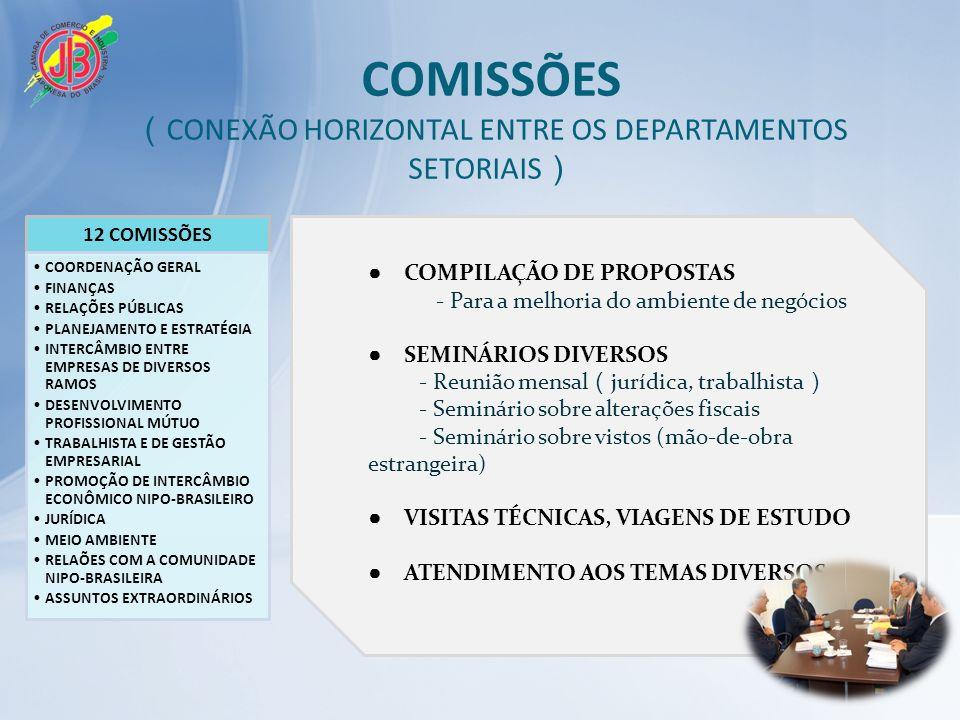 COMISSÕES (CONEXÃO HORIZONTAL ENTRE OS DEPARTAMENTOS SETORIAIS)