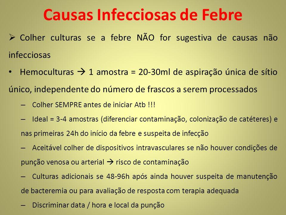 Causas Infecciosas de Febre