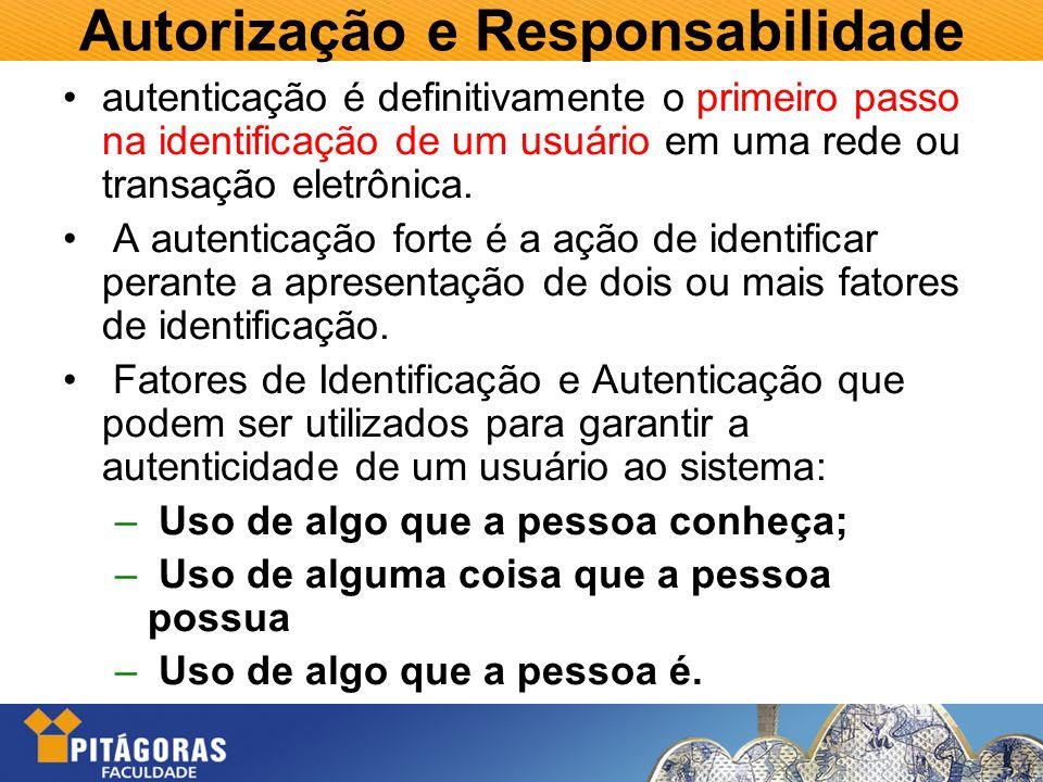 Autorização e Responsabilidade