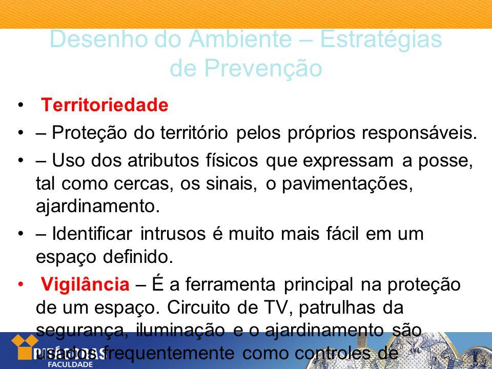 Desenho do Ambiente – Estratégias de Prevenção