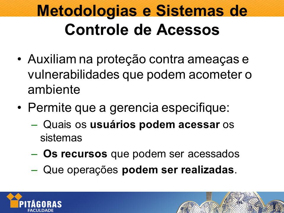 Metodologias e Sistemas de Controle de Acessos