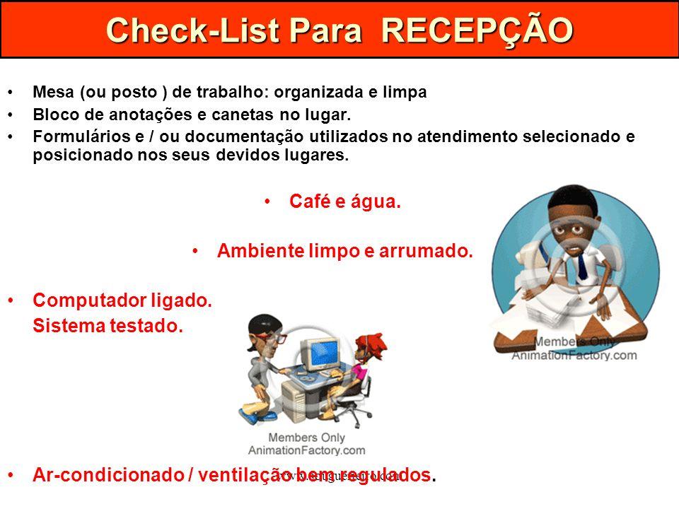 Check-List Para RECEPÇÃO