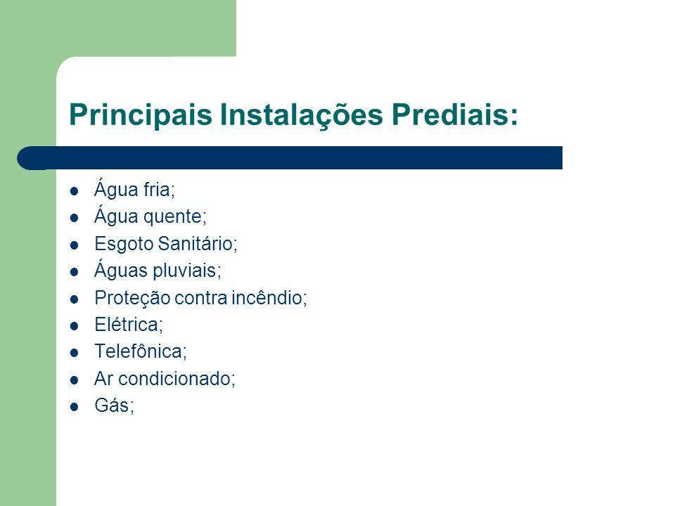 Principais Instalações Prediais: