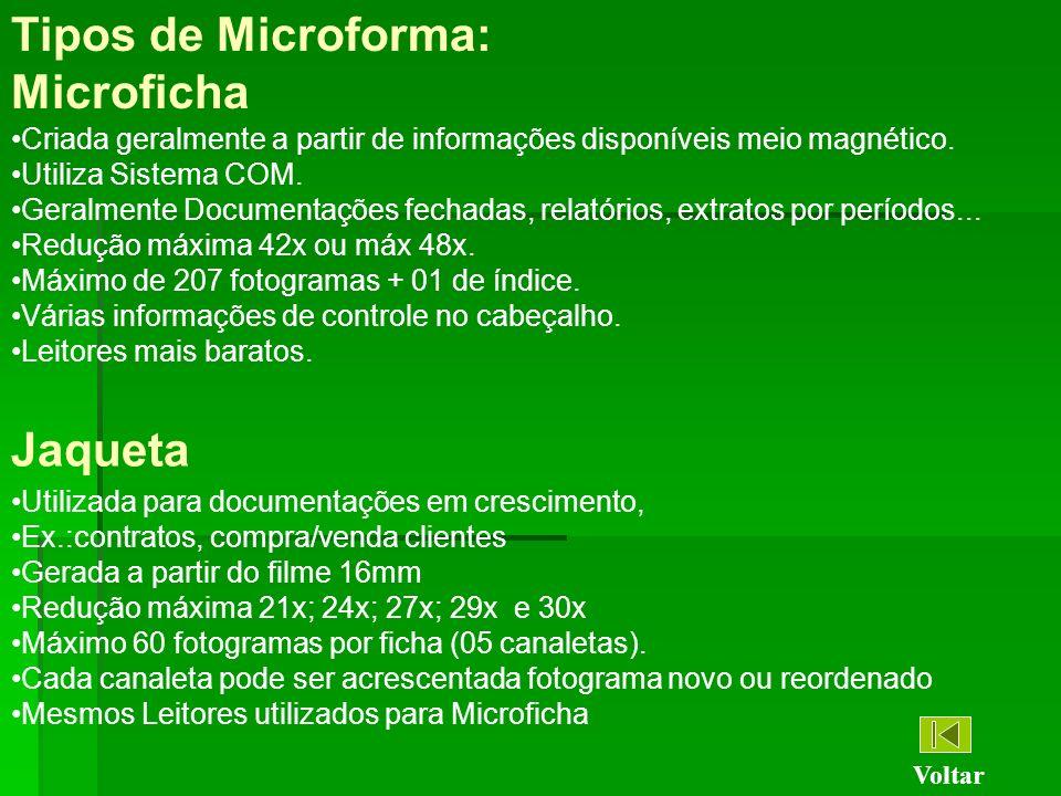 Tipos de Microforma: Microficha Jaqueta