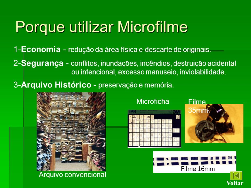 Porque utilizar Microfilme