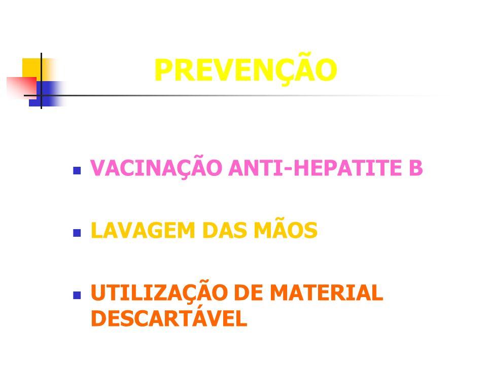 PREVENÇÃO VACINAÇÃO ANTI-HEPATITE B LAVAGEM DAS MÃOS