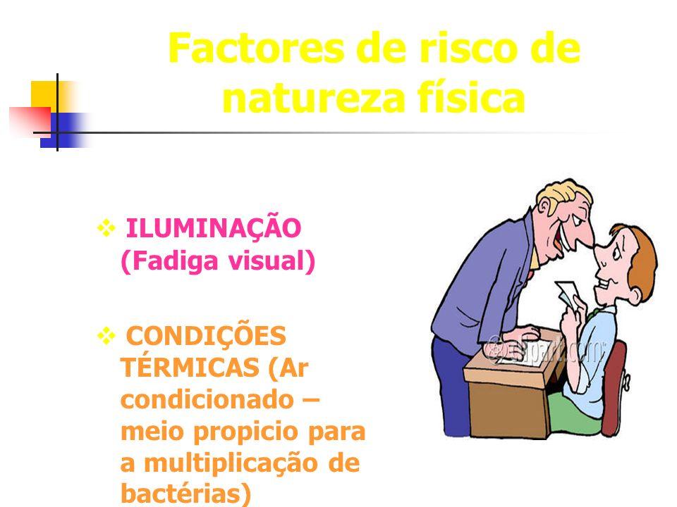 Factores de risco de natureza física