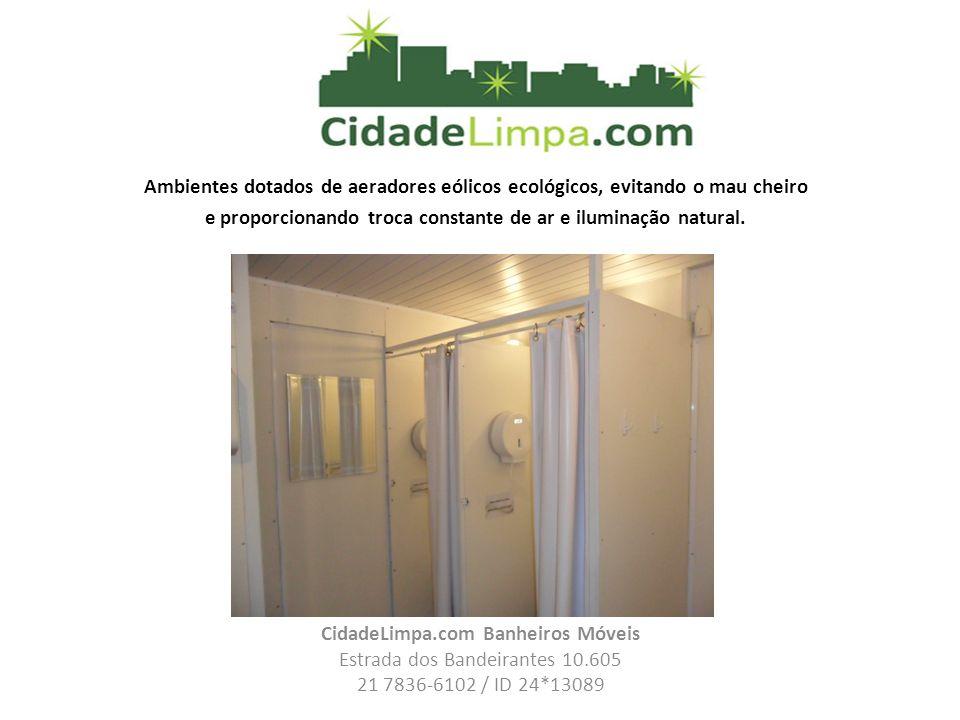 CidadeLimpa.com Banheiros Móveis
