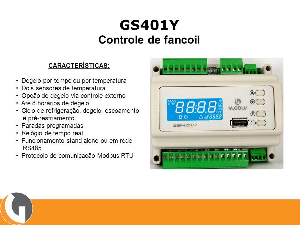 GS401Y Controle de fancoil CARACTERÍSTICAS: