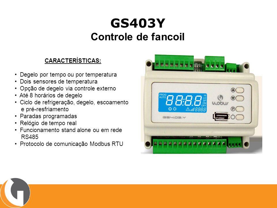 GS403Y Controle de fancoil CARACTERÍSTICAS: