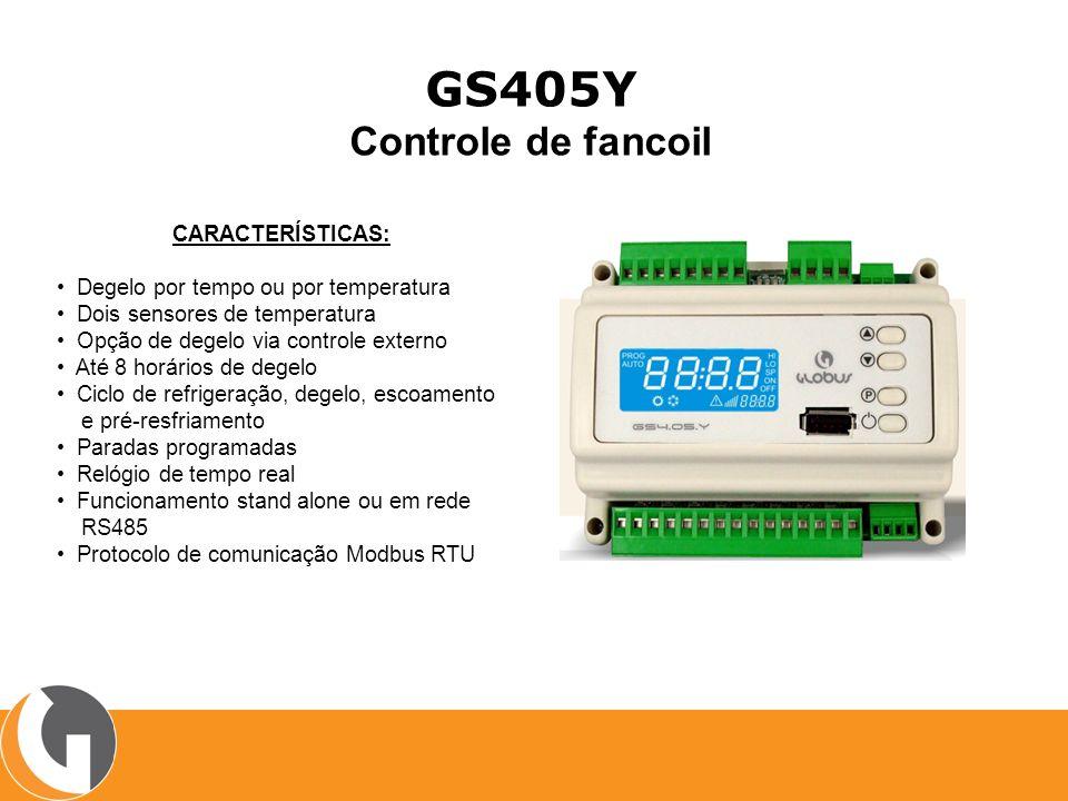 GS405Y Controle de fancoil CARACTERÍSTICAS: