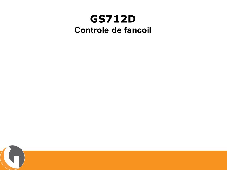 GS712D Controle de fancoil