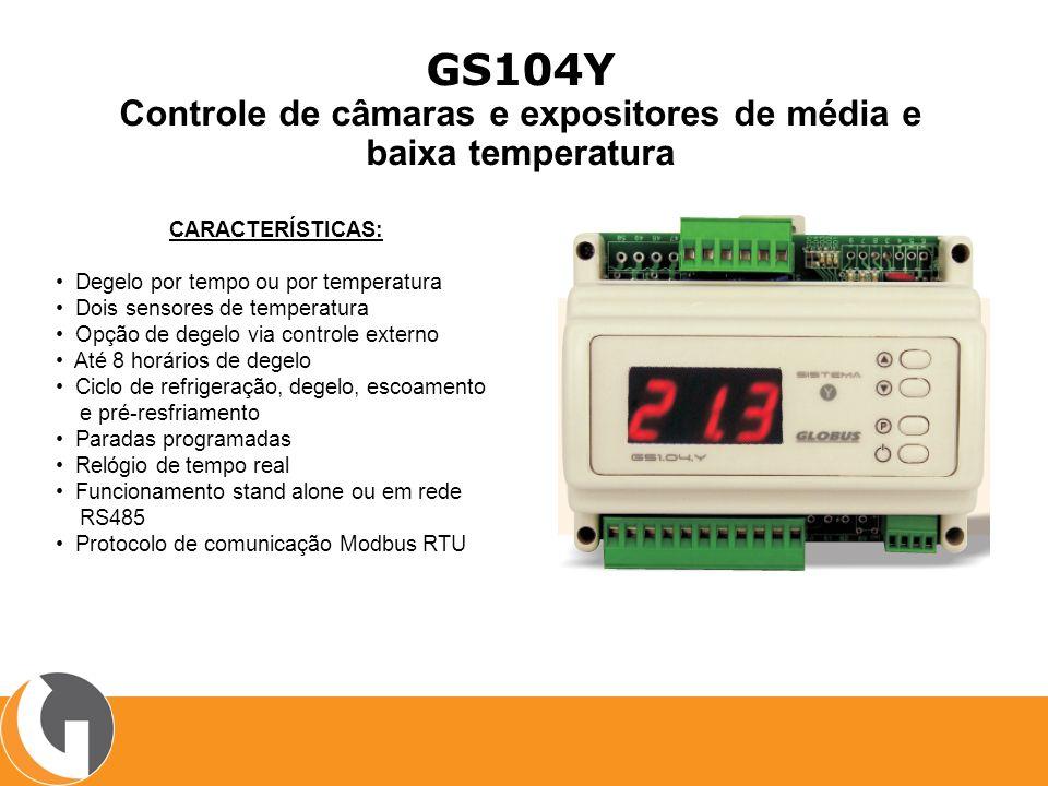 Controle de câmaras e expositores de média e baixa temperatura