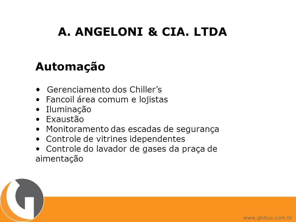 A. ANGELONI & CIA. LTDA Automação • Gerenciamento dos Chiller's