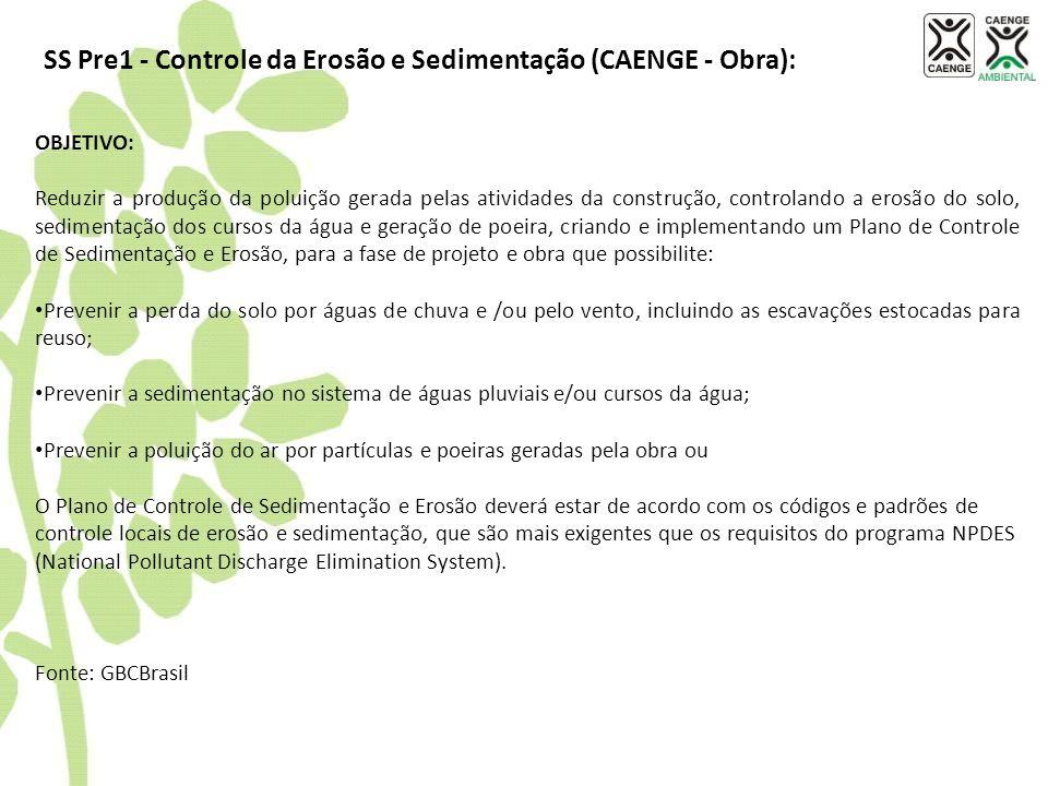 SS Pre1 - Controle da Erosão e Sedimentação (CAENGE - Obra):