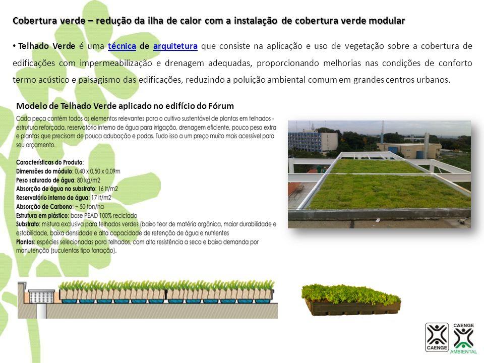 Cobertura verde – redução da ilha de calor com a instalação de cobertura verde modular