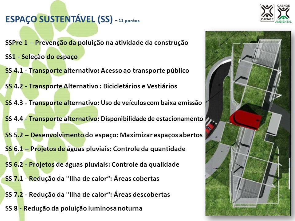 ESPAÇO SUSTENTÁVEL (SS) – 11 pontos