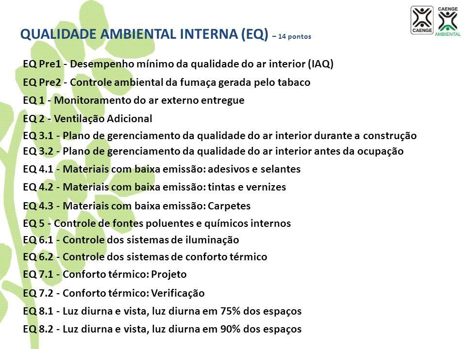 QUALIDADE AMBIENTAL INTERNA (EQ) – 14 pontos