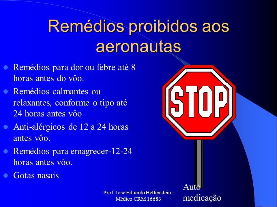 Remédios proibidos aos aeronautas