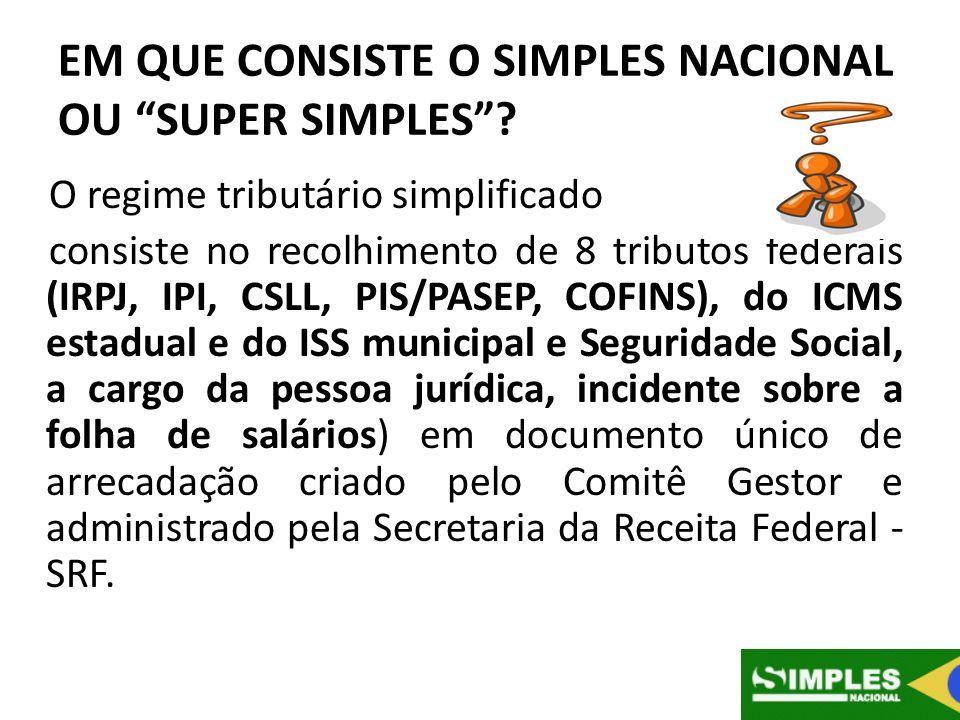 EM QUE CONSISTE O SIMPLES NACIONAL OU SUPER SIMPLES