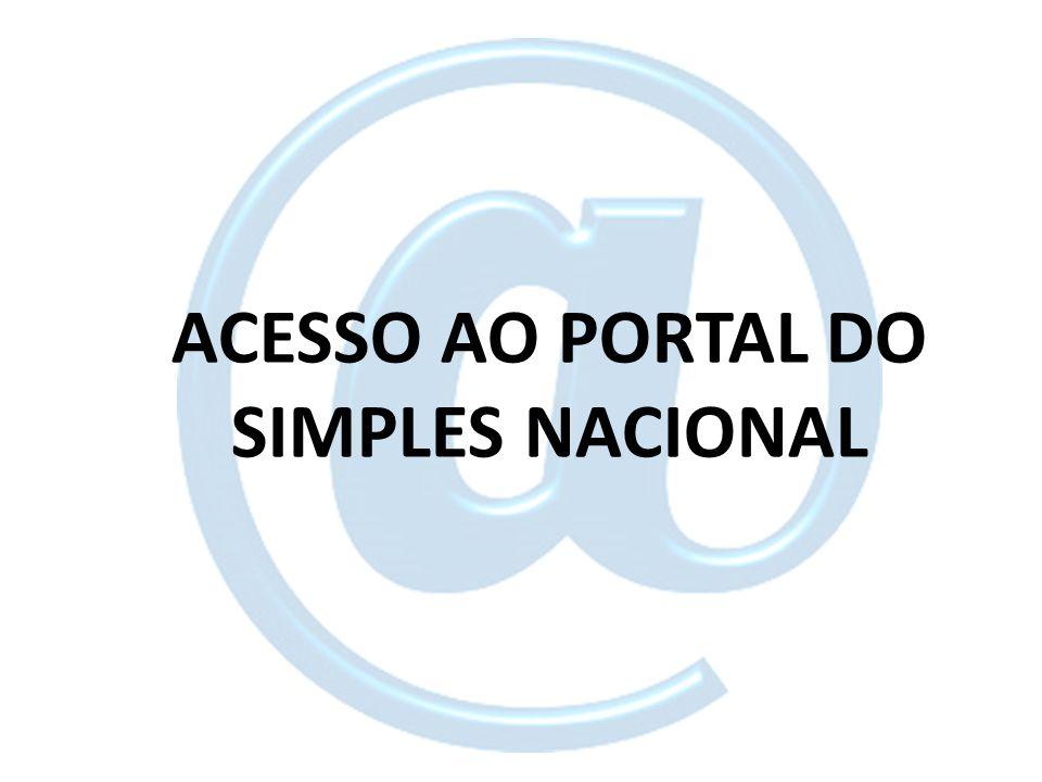 ACESSO AO PORTAL DO SIMPLES NACIONAL