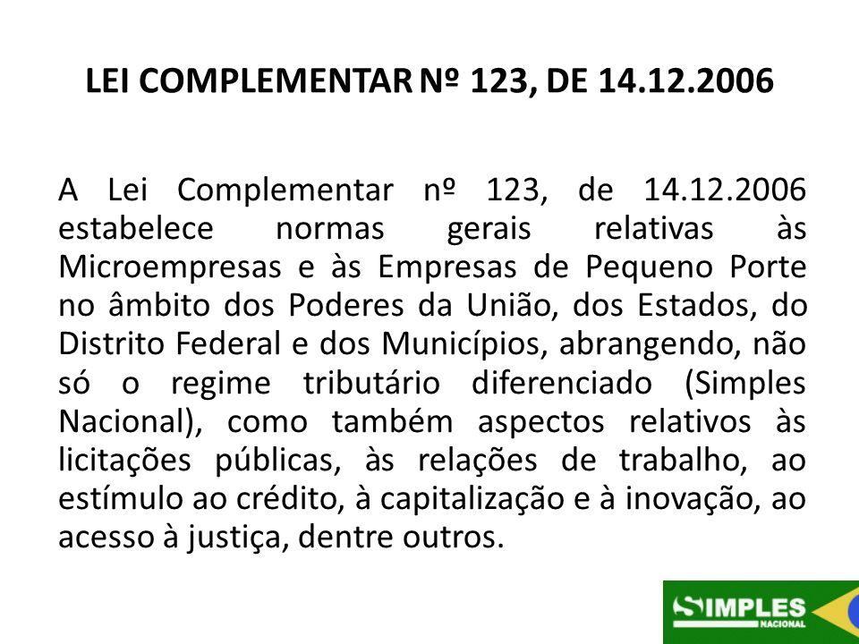 LEI COMPLEMENTAR Nº 123, DE 14.12.2006