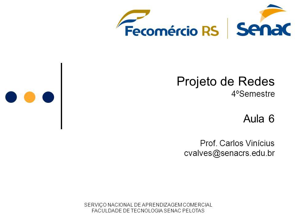 Projeto de Redes 4ºSemestre Aula 6 Prof