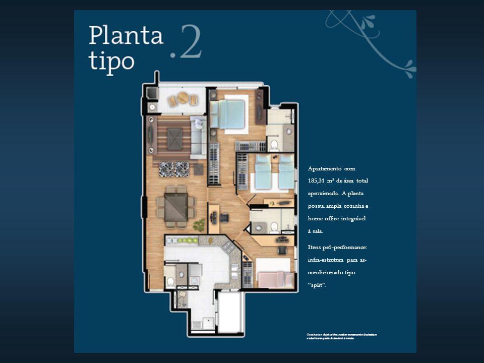 Apartamento com 185,31 m² de área total aproximada