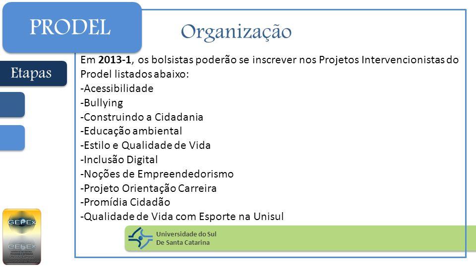 PRODEL Organização Etapas