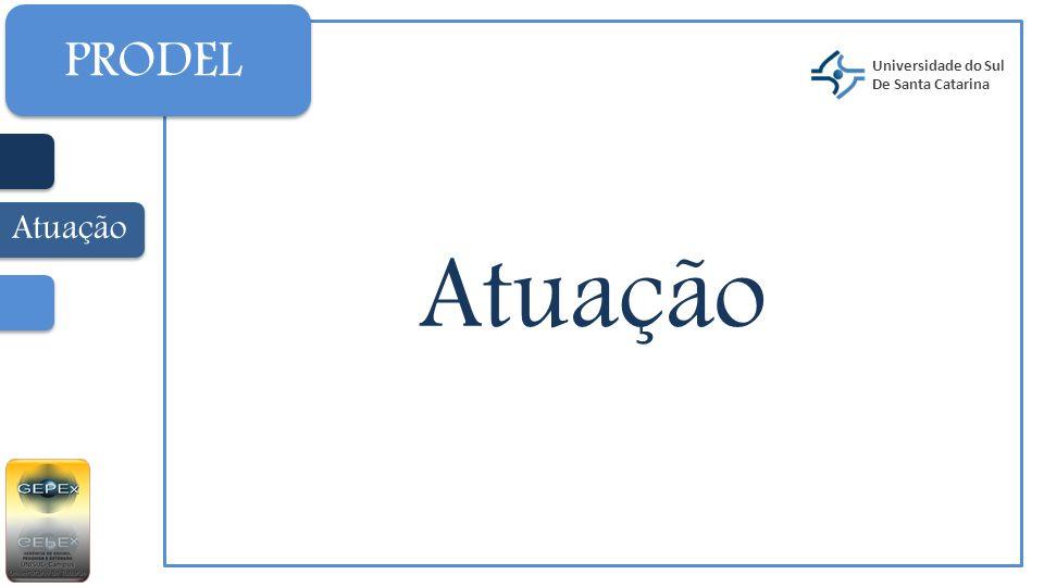 PRODEL Universidade do Sul De Santa Catarina Atuação Atuação