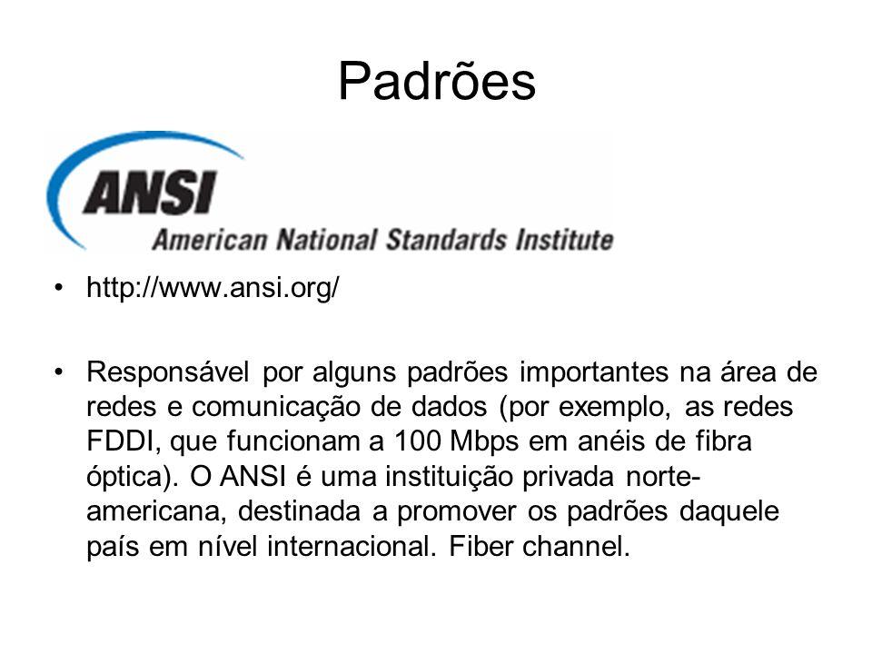 Padrões http://www.ansi.org/