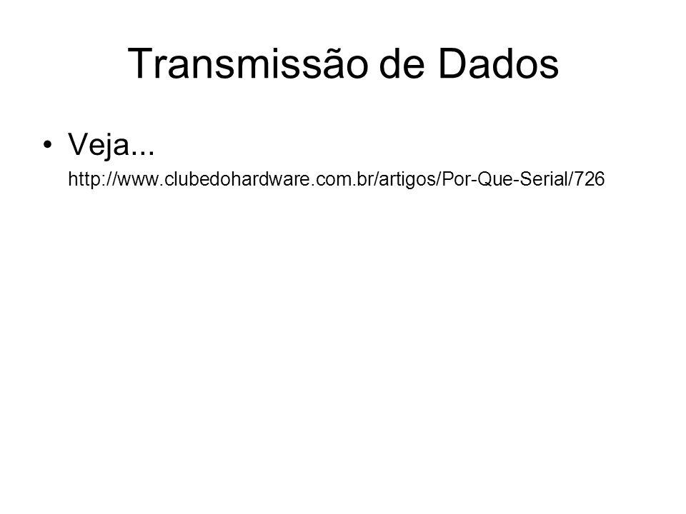 Transmissão de Dados Veja...