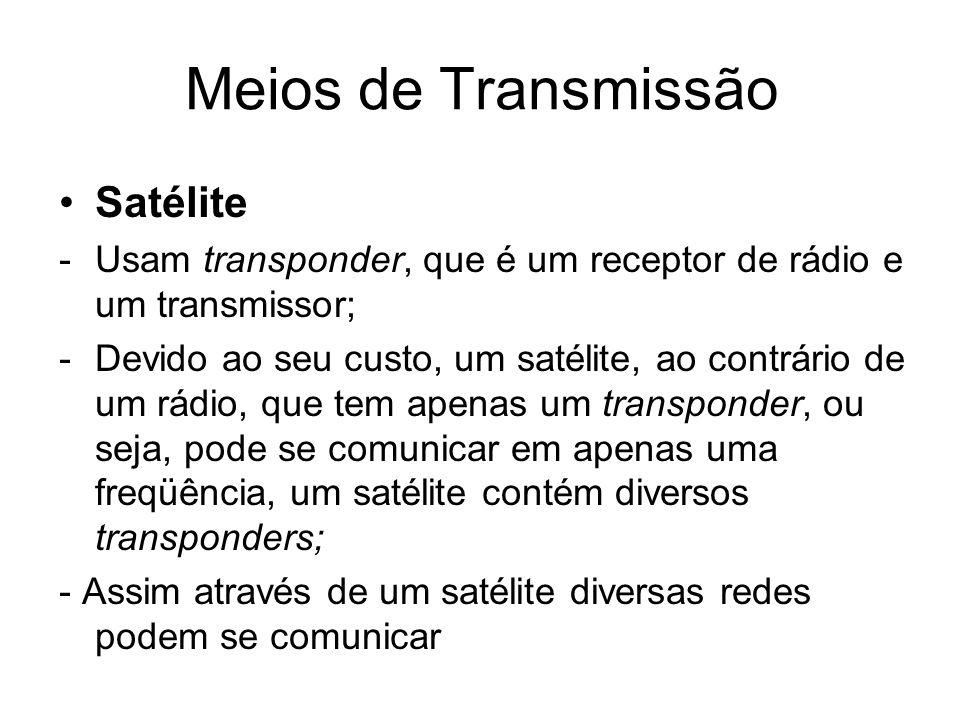 Meios de Transmissão Satélite