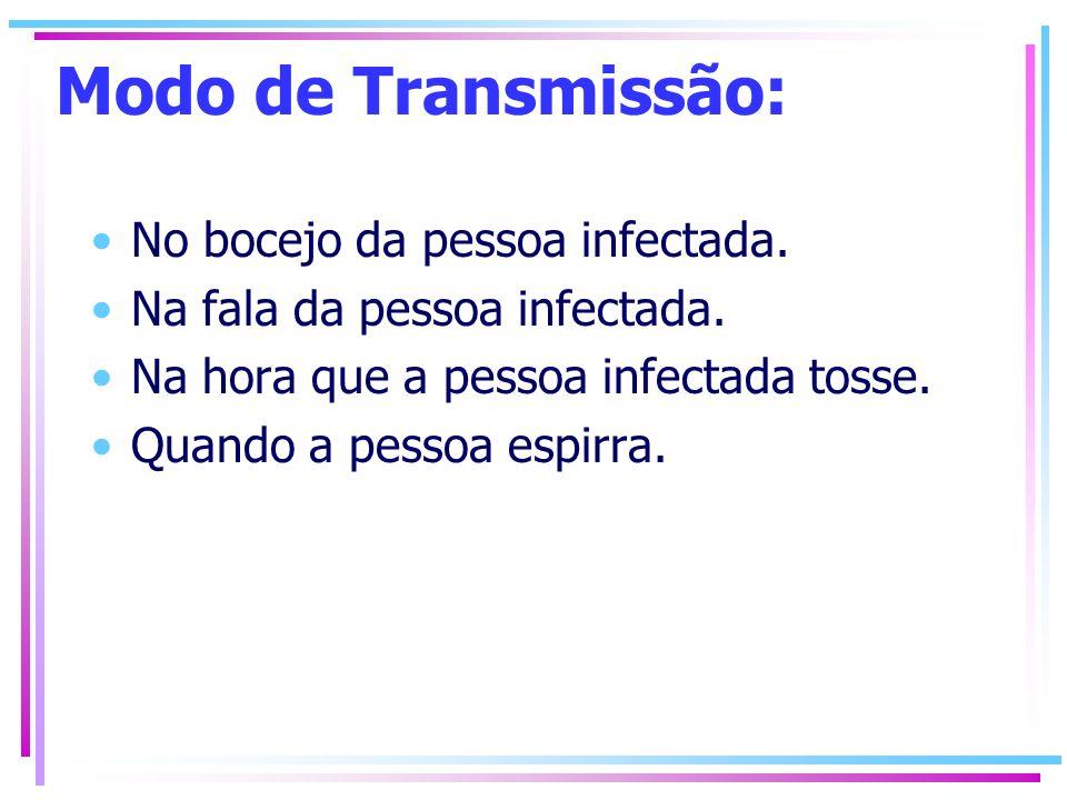 Modo de Transmissão: No bocejo da pessoa infectada.