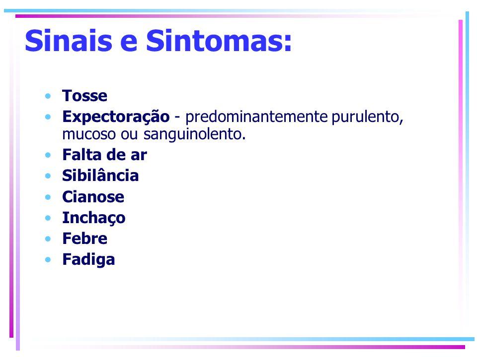 Sinais e Sintomas: Tosse