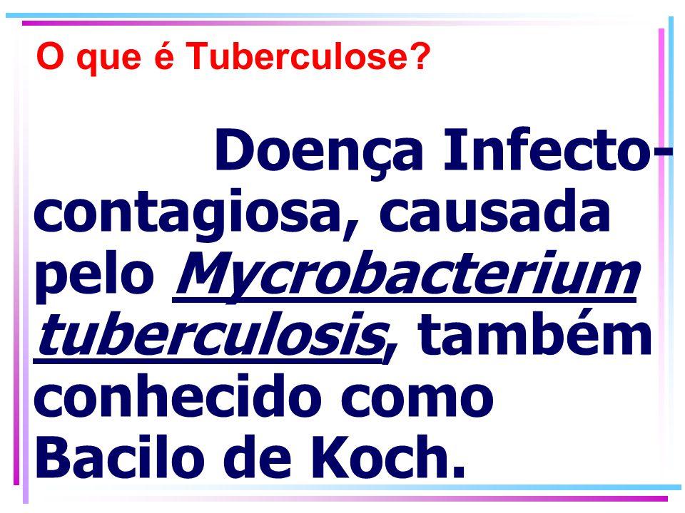 O que é Tuberculose.