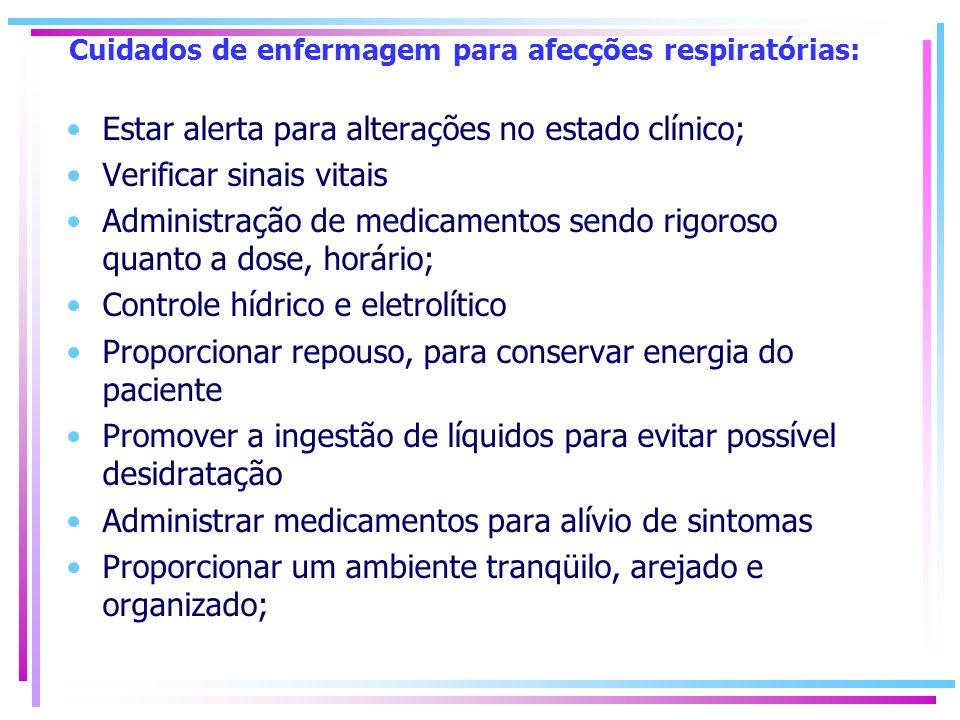 Cuidados de enfermagem para afecções respiratórias:
