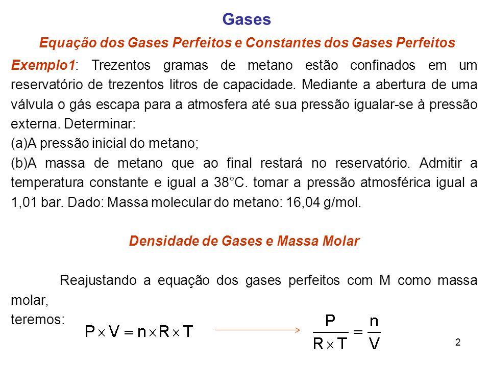 Densidade de Gases e Massa Molar