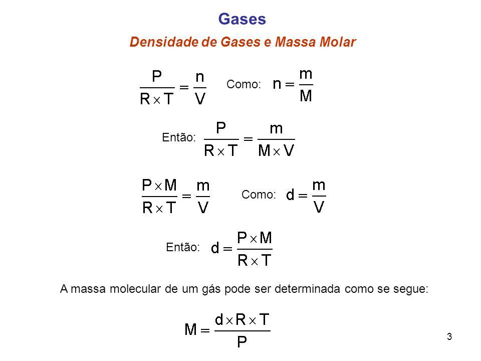 Gases Densidade de Gases e Massa Molar