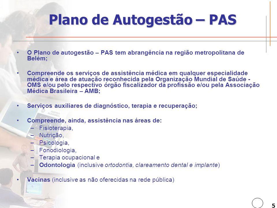 Plano de Autogestão – PAS