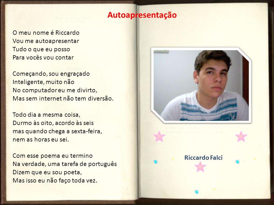 Autoapresentação O meu nome é Riccardo Vou me autoapresentar