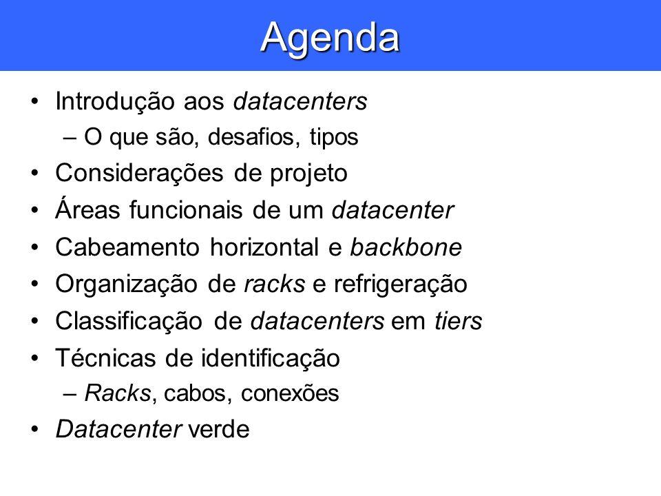 Agenda Introdução aos datacenters Considerações de projeto