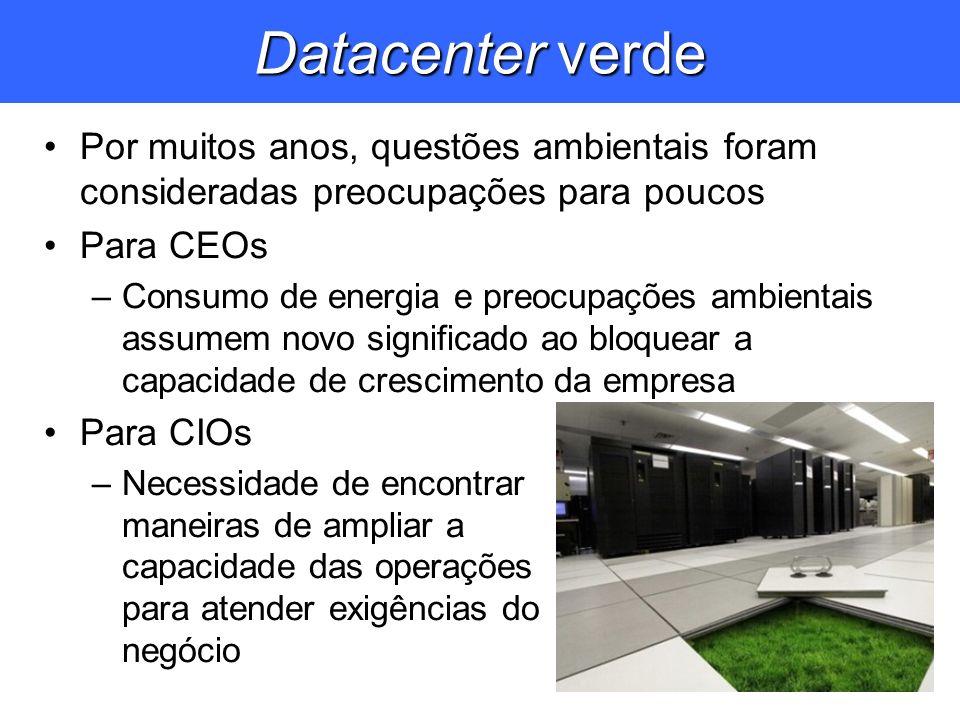 Datacenter verde Por muitos anos, questões ambientais foram consideradas preocupações para poucos. Para CEOs.