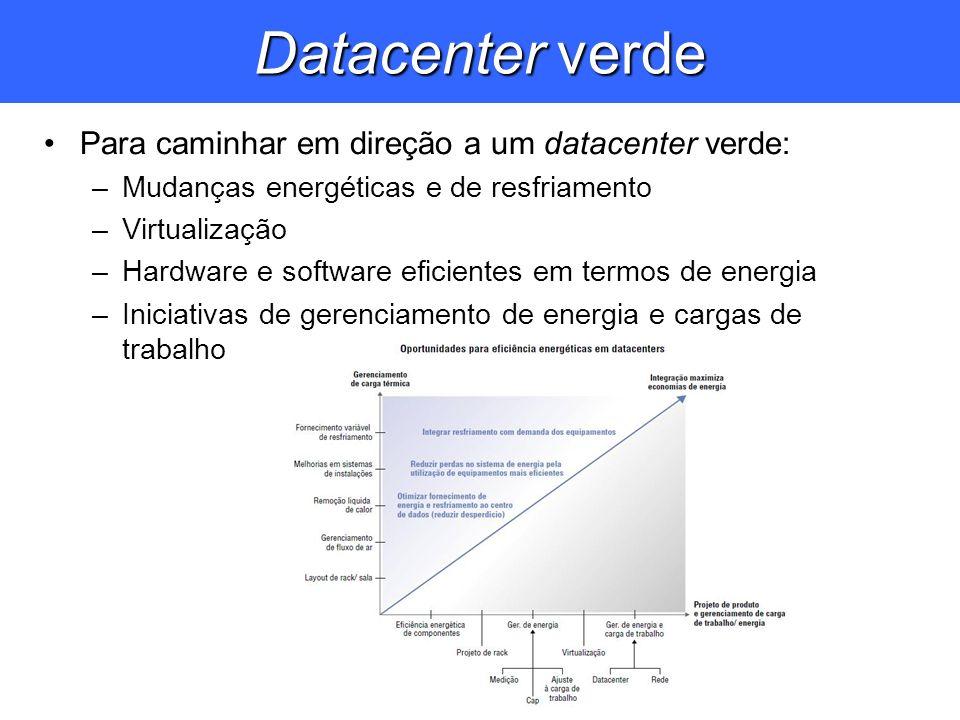 Datacenter verde Para caminhar em direção a um datacenter verde: