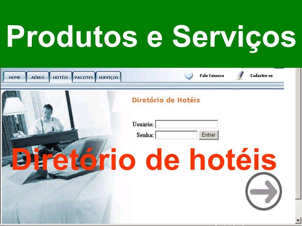 Produtos e Serviços Diretório de hotéis