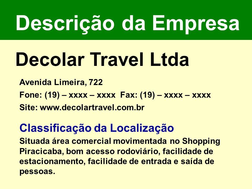 Descrição da Empresa Decolar Travel Ltda Classificação da Localização