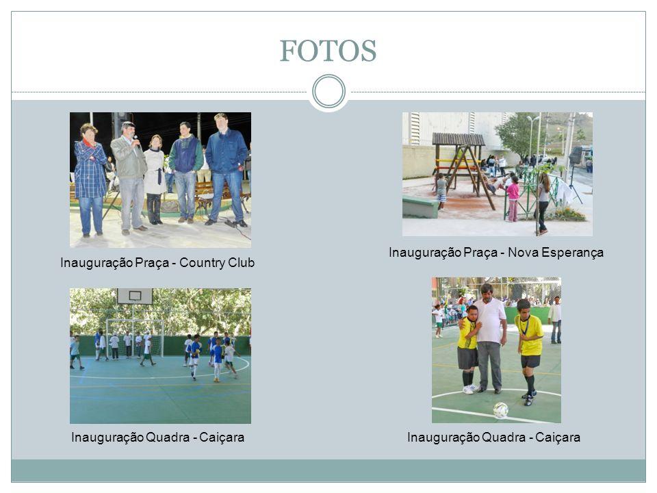 FOTOS Inauguração Praça - Nova Esperança