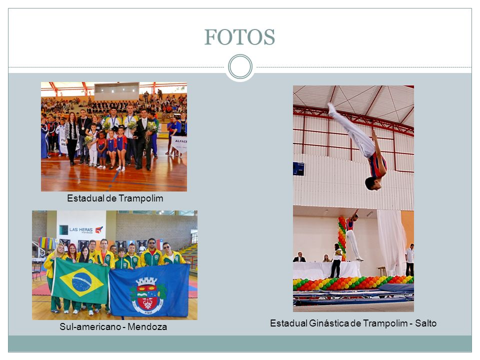 FOTOS Estadual de Trampolim Estadual Ginástica de Trampolim - Salto